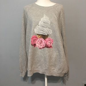 Wildfox sweatshirt L ice cream